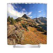 Glacier Hidden Lake Shower Curtain