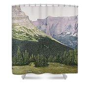 Glacier National Park Montana Shower Curtain
