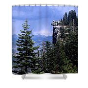 Glacier Point From Four Mile Trail Shower Curtain