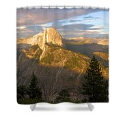 Glacier Point Glow Shower Curtain