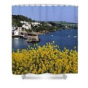 Glandore Village & Harbour, Co Cork Shower Curtain