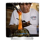 Glass Blower Shower Curtain
