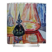 Glass Bottles Still Life Shower Curtain