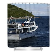 Glass Bottom Boat Shower Curtain
