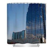Glass Buildings Nashville Shower Curtain by Susanne Van Hulst