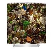 Glass Chips Shower Curtain
