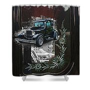 Glass Etching Classic Shower Curtain