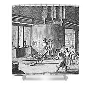 Glass Manufacture, 1751 Shower Curtain