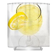 Glass Of Lemonade Shower Curtain by Andee Design