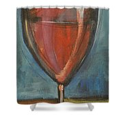 Glass Of Red Shower Curtain by Tim Nyberg