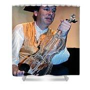 Glass Violin Shower Curtain