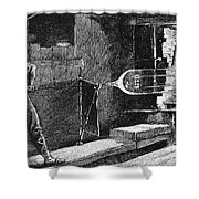 Glassworker, 19th Century Shower Curtain
