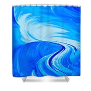 Glassworks In Blue Shower Curtain