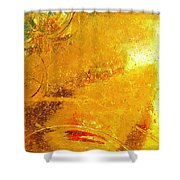 Glassworks Series-gold I Shower Curtain