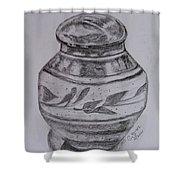 Glazed Tea Caddy Shower Curtain