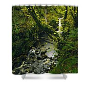Glenariff, Co Antrim, Ireland Waterfall Shower Curtain