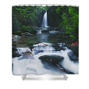 Glencar, Co Sligo, Ireland Waterfall Shower Curtain
