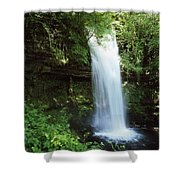 Glencar Waterfall, Yeats Country, Co Shower Curtain