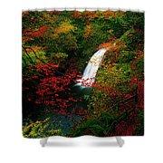 Glenoe Waterfall And Glen, Co Antrim Shower Curtain
