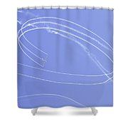 Glider Aerobatics At Airshow Canvas Photo Poster Print Shower Curtain