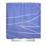 Glider Flying Aerobatics At Airshow Photo Poster Print Shower Curtain