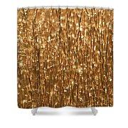 Glistening Gold Prairie Grass Abstract Shower Curtain