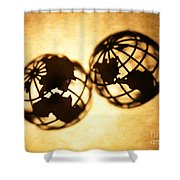 Globe 2 Shower Curtain by Tony Cordoza