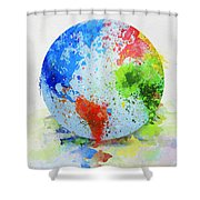 Globe Painting Shower Curtain