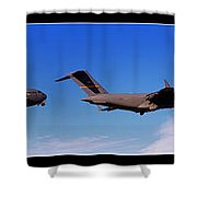 Globemaster Flyby Shower Curtain