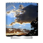 Glorious August Sunset Shower Curtain