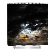 Glorious Gibbous - Wide Version Shower Curtain