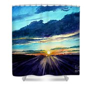 Glory Of The Sunset 2 Shower Curtain