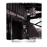 Glory Tunnel Mine Entrance In Calico California Shower Curtain by Susanne Van Hulst
