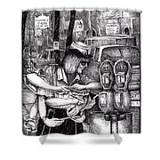 Gloucester Meter Maid Shower Curtain