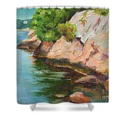 Gloucester Sail Boat Shower Curtain