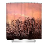 Glow Of A Winter Sunset Shower Curtain