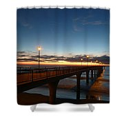 Glow On The Horizon Shower Curtain