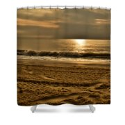Glowin' Ocean Shower Curtain