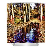 Glowing Beauty Shower Curtain