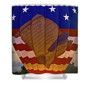 Glowing Constitution Shower Curtain
