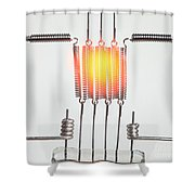 Glowing Filament 3 Of 4 Shower Curtain