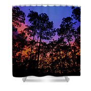 Glowing Forest Shower Curtain