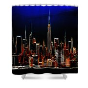Glowing New York Shower Curtain