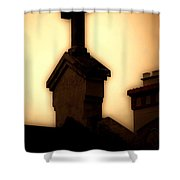 Glowing Resurrection Shower Curtain