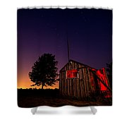 Glowing Shed Shower Curtain