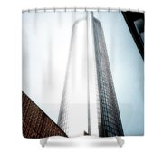 Glowing Skyscraper Shower Curtain