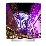 Glowing Sony Center Shower Curtain