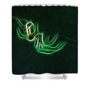 Glowing Spider Shower Curtain
