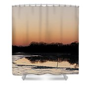 Glowing Sunset Shower Curtain