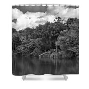 Gnoll Country Estate 2 Mono Shower Curtain